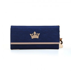Crown Pendant Lady Long Wallet