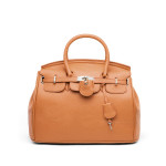 European PU Leather Platinum Lock Women Handbag Women's Bags
