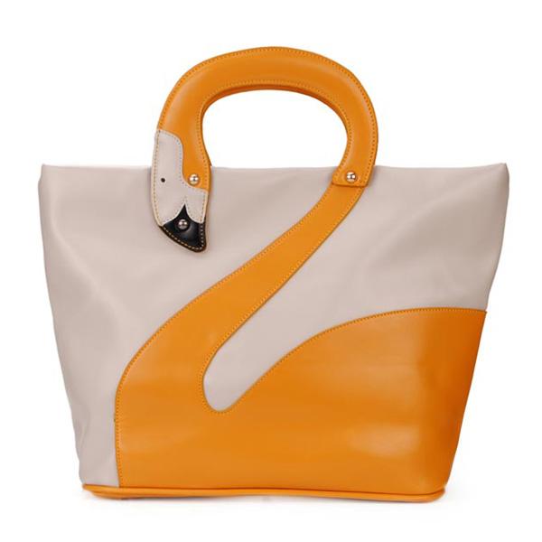 Art und Weise nette Tier Schwan Muster Frauen Handtasche Schultertasche Damentaschen für Frauen