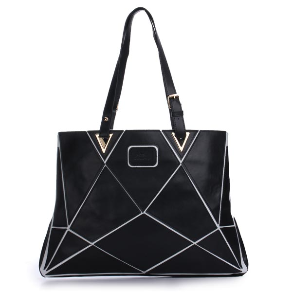 Fashion PU Leather Big Capacity Patchwork Handbag Single Shoulder Bag Women's Bags