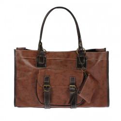 Mode PU Läder Brown Handväska