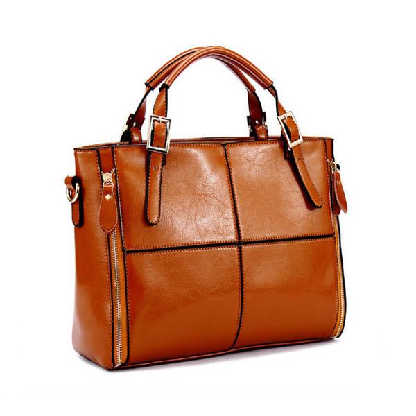 Arbeiten Sie Frauen PU Leder Handtasche Kuhfell Patchwork Umhängetasche Damentaschen für Frauen