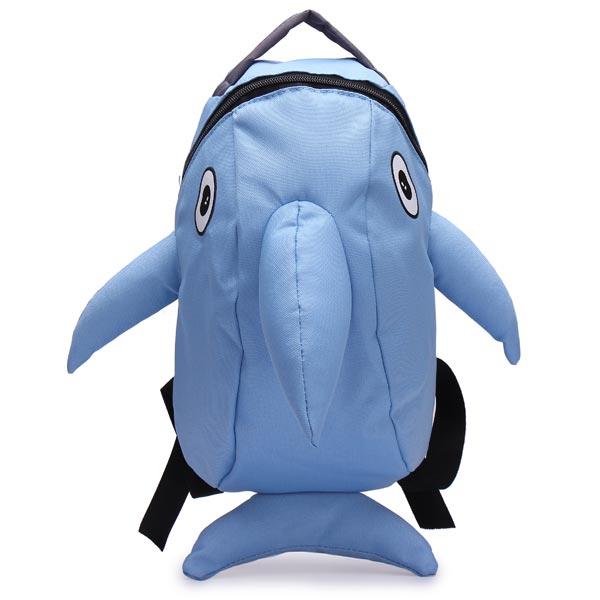 Piger Cartoon Dolphin Pattern Rygsæk Dametasker
