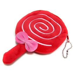 Flickor Nya Original Gulliga Tecknad Film Lollipop Plysch Mynt Bag Korthållare