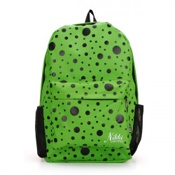 Girls Polka Dots Canvas Backpack Schoolbag
