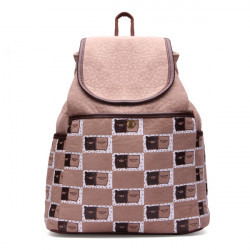 Khaki Small Pigs Printing Backpack