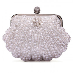 Lady Pearl Evening Party Clutch Bag