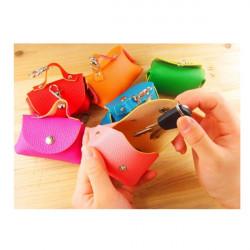 Dejlig Candy Color Kvinder Zipper Wallet Purse Mini Coin Lille Håndtaske