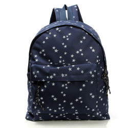 Lovely Casual Vintage Women Canvas Backpack Students Stars Bag
