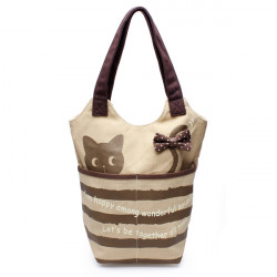 Lovely Cat Women's Canvas Bags Shoulder Totes Lunch Handbag