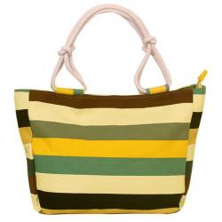Multi-farvet Lærred Color Printing Håndtaskes Shoulder Casual Bag