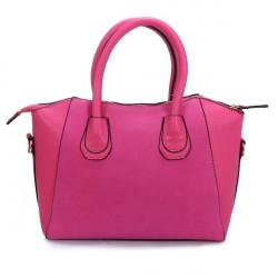 Nubuck Læder Smilende Ansigt Kvinder Håndtaske