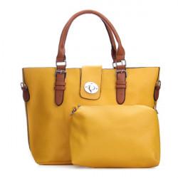 PU Leder große Kapazitäts Gürtel dekoriert Handtasche