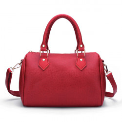 PU Leather Messenger Satchel Shoulder Bag Women Tote