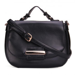 PU Leather Pure Color Crossbody Bag