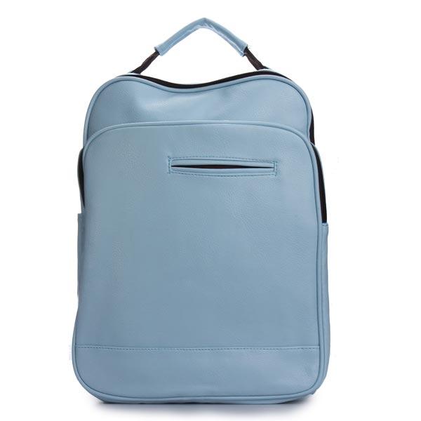 PU Leder reine Farbe Doppel Reißverschluss Rucksack Damentaschen für Frauen