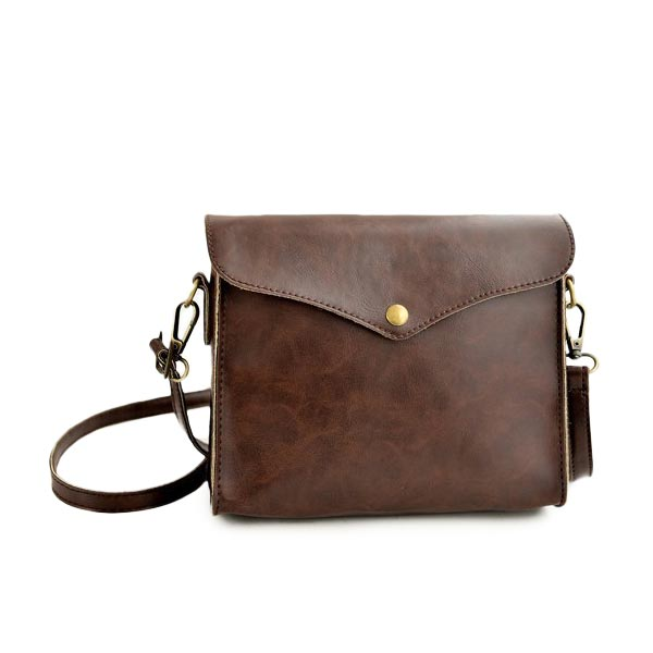 PU Leather Retro Vintage Small Shoulder Women Messenger Crossbody Bag Women's Bags