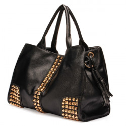 PU Leather Rivet Handbag