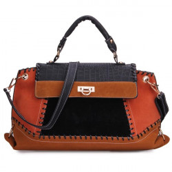 Retro Patchwork Handbag Crossbody Bag