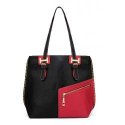 Retro Einfache Große Frauen Umhängetasche Diagonal Zipper Handtasche