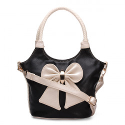 Retro Kvinder Bow Taske Håndtaske Skuldertaske Håndtasker