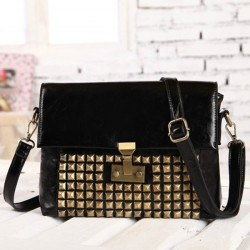 Retro Women Rivets Shoulder Cross Body Bag