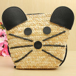 Straw Mouse Crossbody Bags Women's Bags