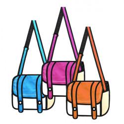 Unisex 3D Shoulder Tasker Piger / Drenge Crossbody Tasker Comic Messenger Bag