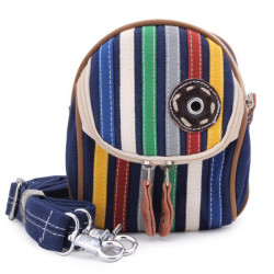 Unisex Causal Colorful Striped Pattern Bag