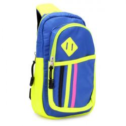 Unisex Farbe Block Check Taschen Umhängetasche
