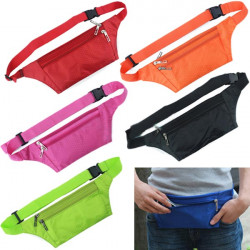 Unisex Running Bum Bag Travel Handy Vandring Sport Livrem Zip Pouch