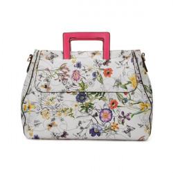 Vintage Kvinder Blomst Pattern Håndtaske