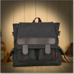 Vintage Women Multi-purpose Canvas Backpack Student Backpack Book Bags