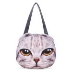 Frauen 3D Hund Katze Muschi Gesicht Geldbeutel nette Einkaufs Tote Umhängetasche Damentaschen für Frauen