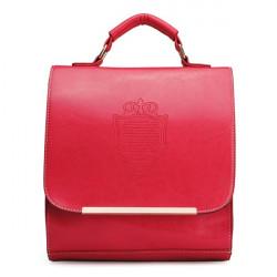 Kvinnor Ryggsäck Preppy Style Crown Ryggsäck Ladies Retro Candy Color Handväska