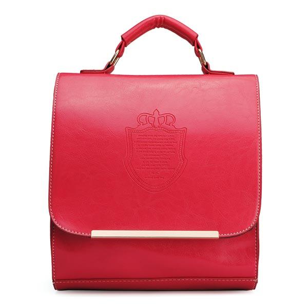 Frauen Rucksack adrette Art Crown Rucksack Damen Retro Süßigkeit Farben Handtasche Damentaschen für Frauen