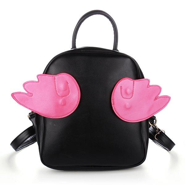 Frauen Rucksack Schüler Süße Flügel Rucksack Mädchen Schulbuchumschlag Damentaschen für Frauen