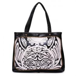 Frauen Schwarzweiß Druck Handtasche