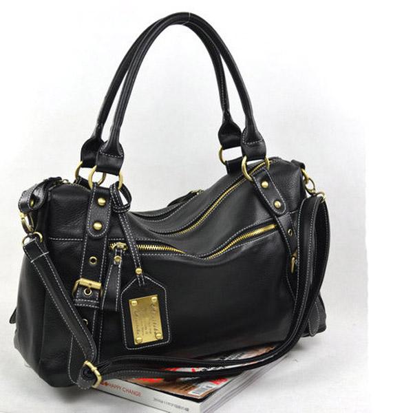 Women Black PU Totes Handbag Shoulder Bag Women's Bags