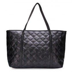 Women Black Quilting Handbag