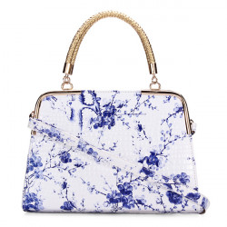 Frauen blauen und weißen Porzellan Schulter Handtaschen ethnische Umhängetaschen