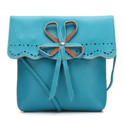 Women Candy Color Bowknot Bow Hollow Out Crossbody Shoulder Bag