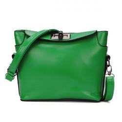 Women Candy Color Rotating Lock Shoulder Crossbody Bag