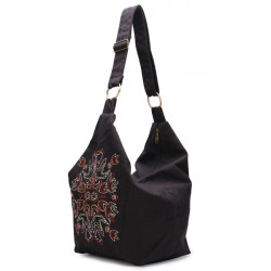 Women Canvas Embroidery Cross Body Bag