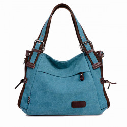Women Canvas Shoulder Bag Vintage Handbag Casual Hobos