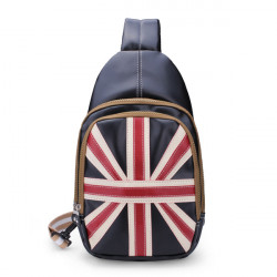 Kvinder Casual Sports Bag Unisex UK Flag PU Læder Casual Chest Taske