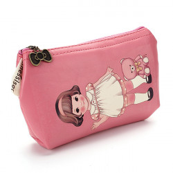 Kvinder Coin Tasker Lovely Cartoon Girl Purse Key Bag Kortholder Telefon Tasker