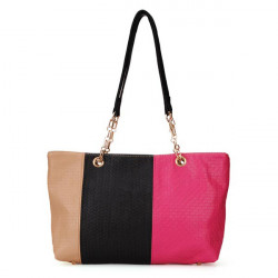 Women Color Block Patchwork Handbag
