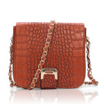 Women Crocodile Leather Flap-top Chain Strap Messenger Bag Women's Bags