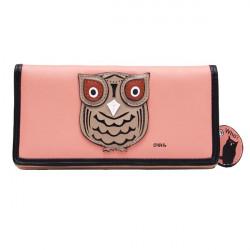 Women Cute Animal Owl Pattern Long Wallet